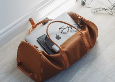 Travel bag leather gifts