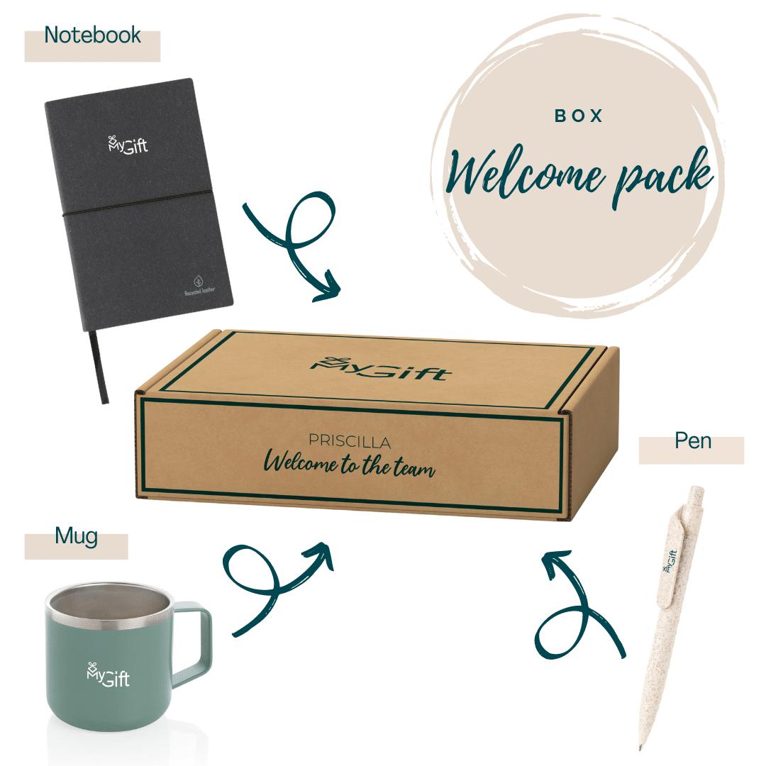 welcome pack personnalisé, cadeau d'entreprise